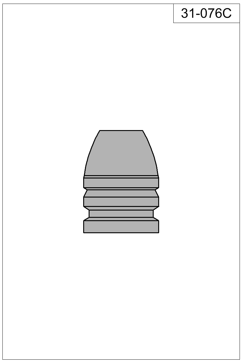 Filled view of bullet 31-076C.