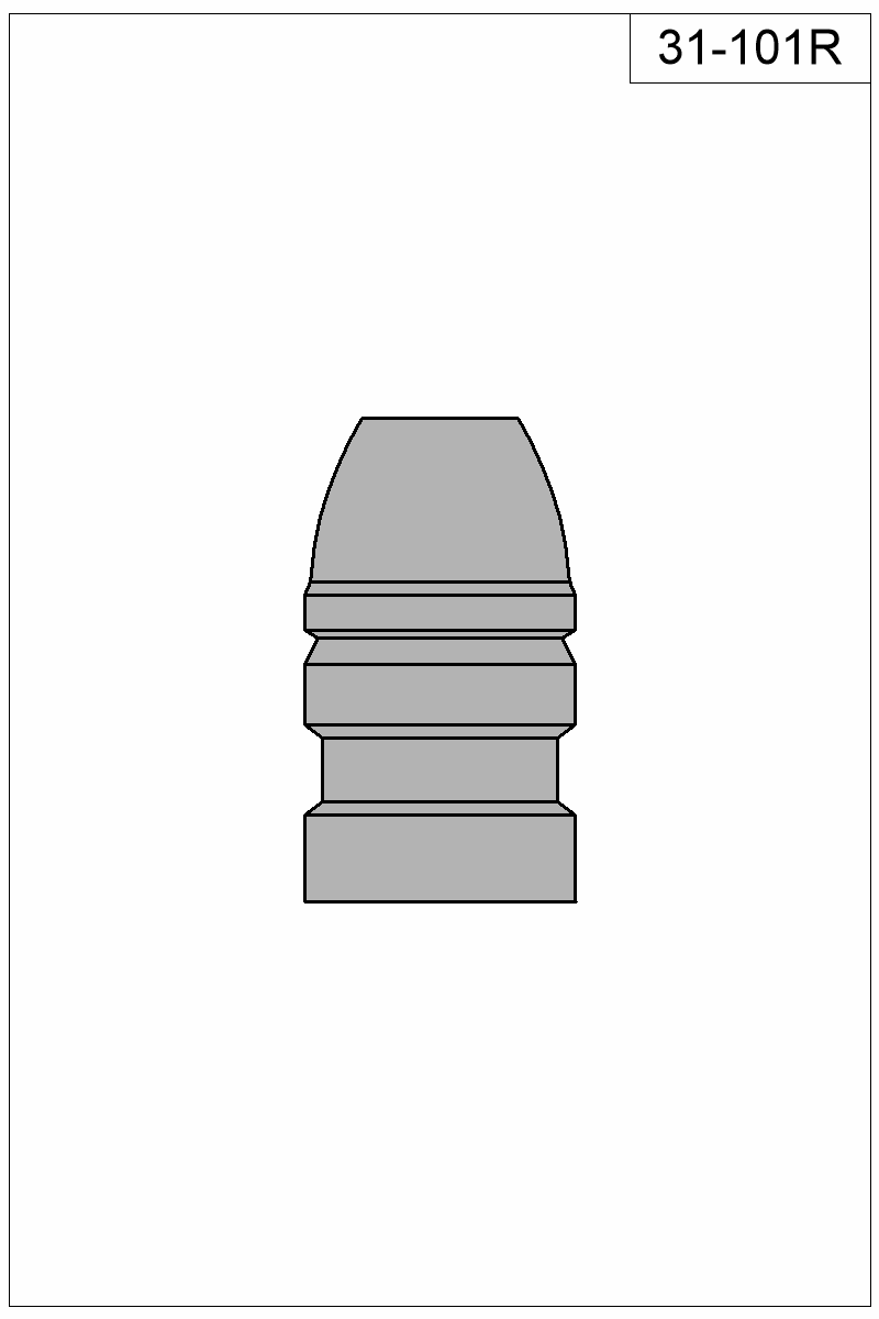 Filled view of bullet 31-101R.