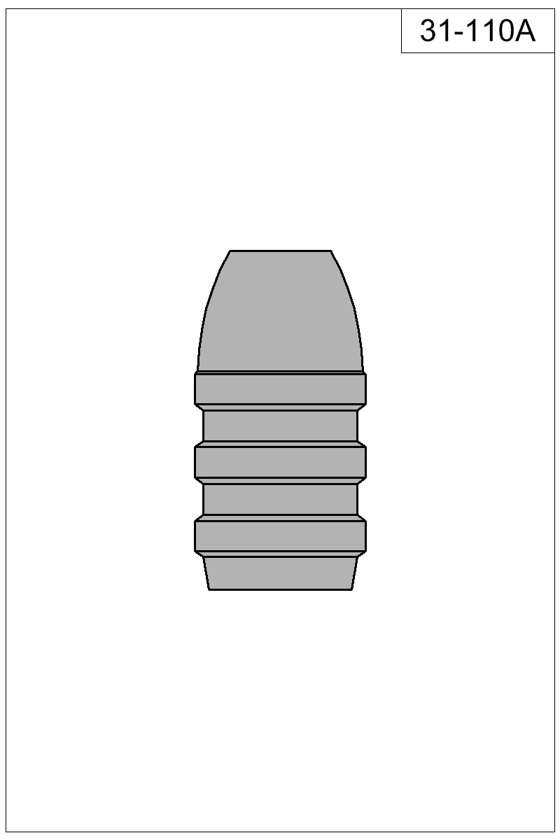 Filled view of bullet 31-110A.