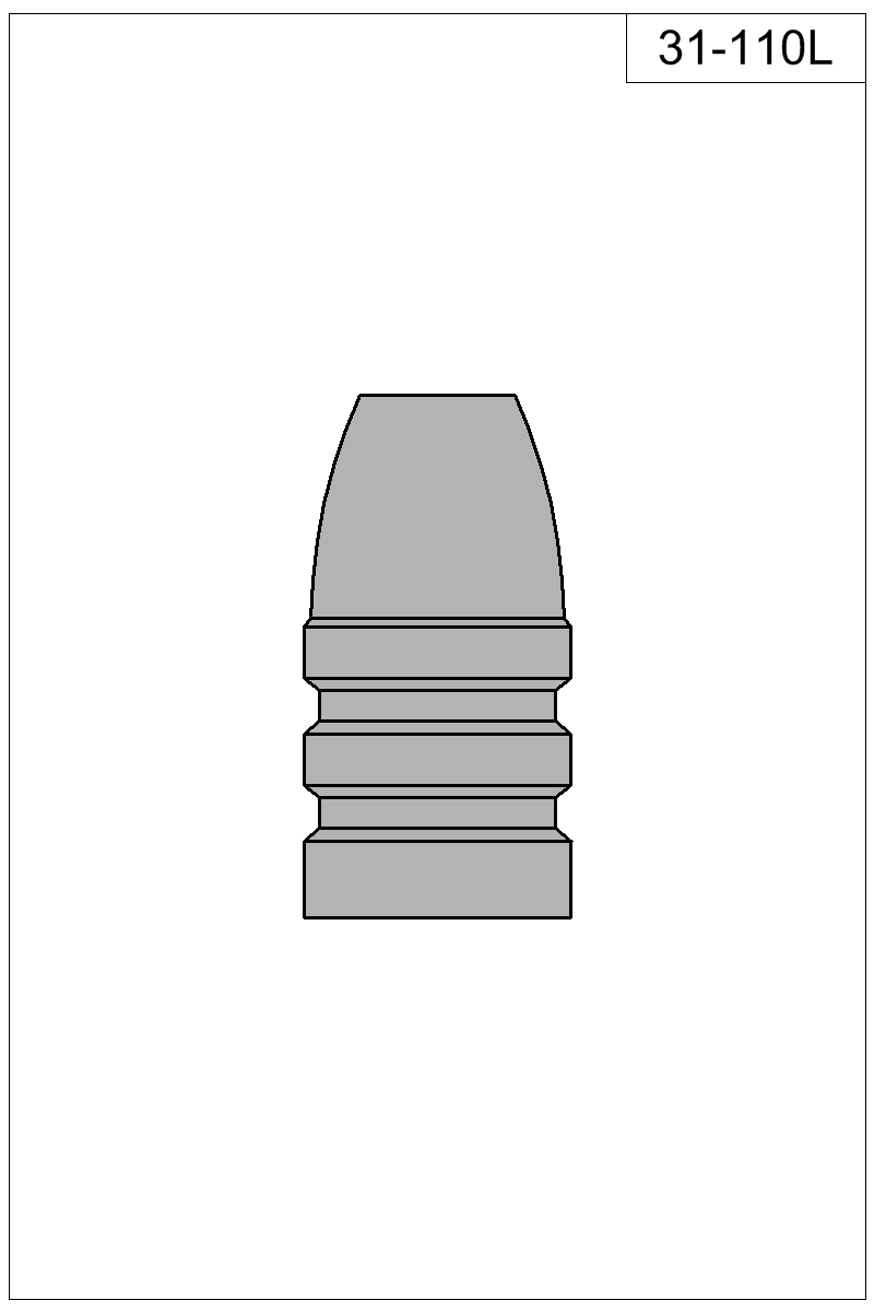 Filled view of bullet 31-110L.