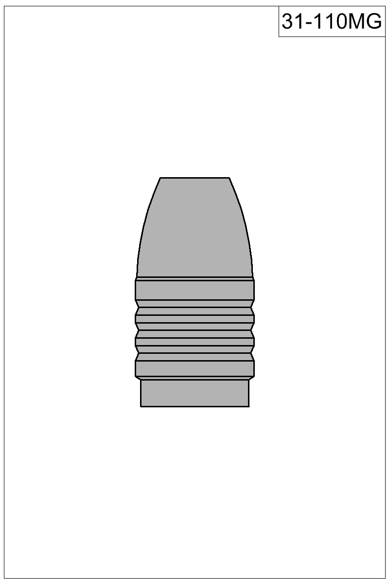 Filled view of bullet 31-110MG.