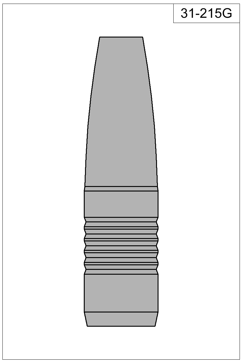 Filled view of bullet 31-215G.