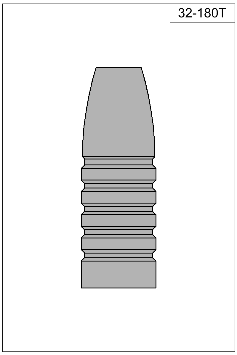 Filled view of bullet 32-180T.