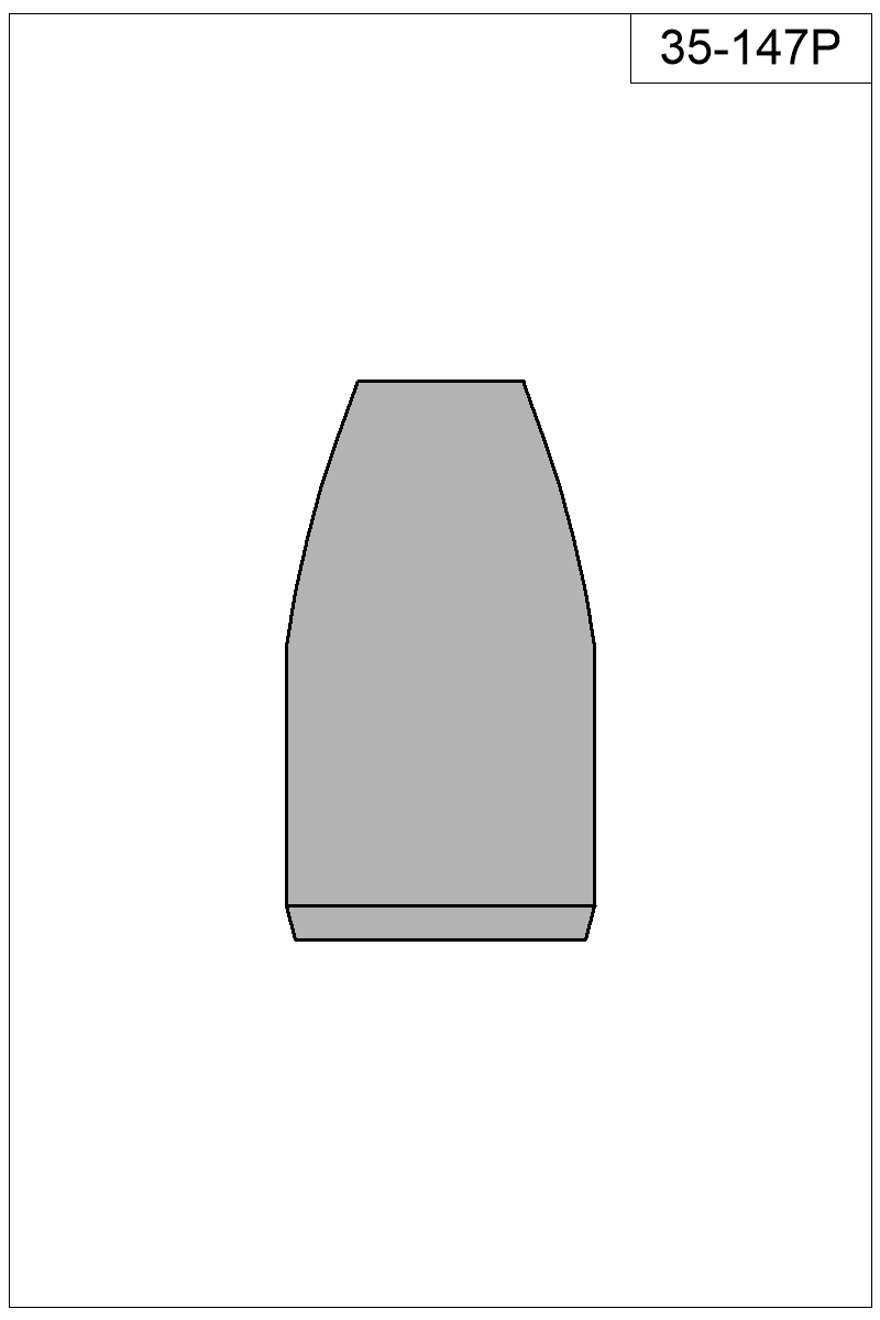 Filled view of bullet 35-147P.