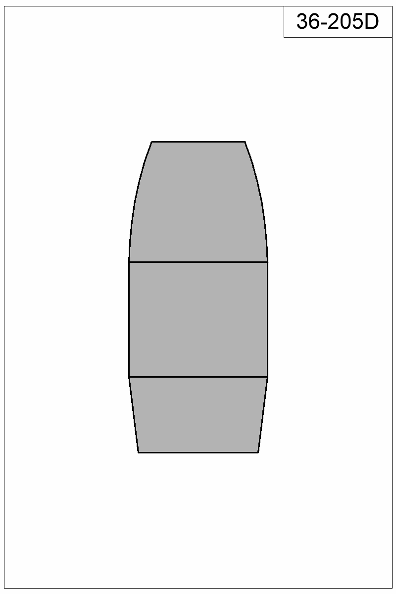 Filled view of bullet 36-205D.