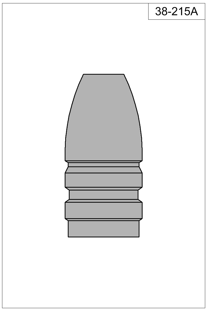 Filled view of bullet 38-215A.