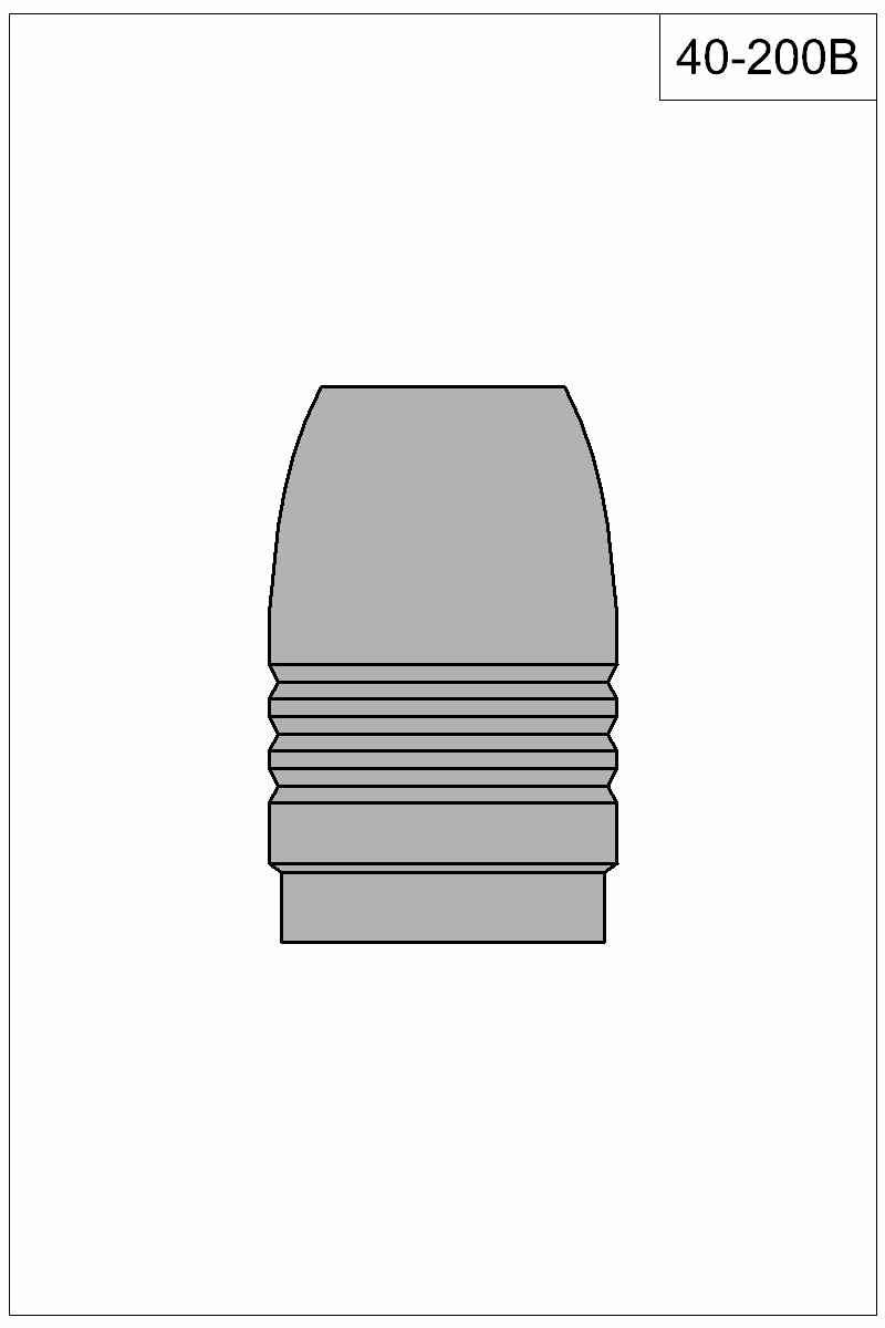 Filled view of bullet 40-200B.