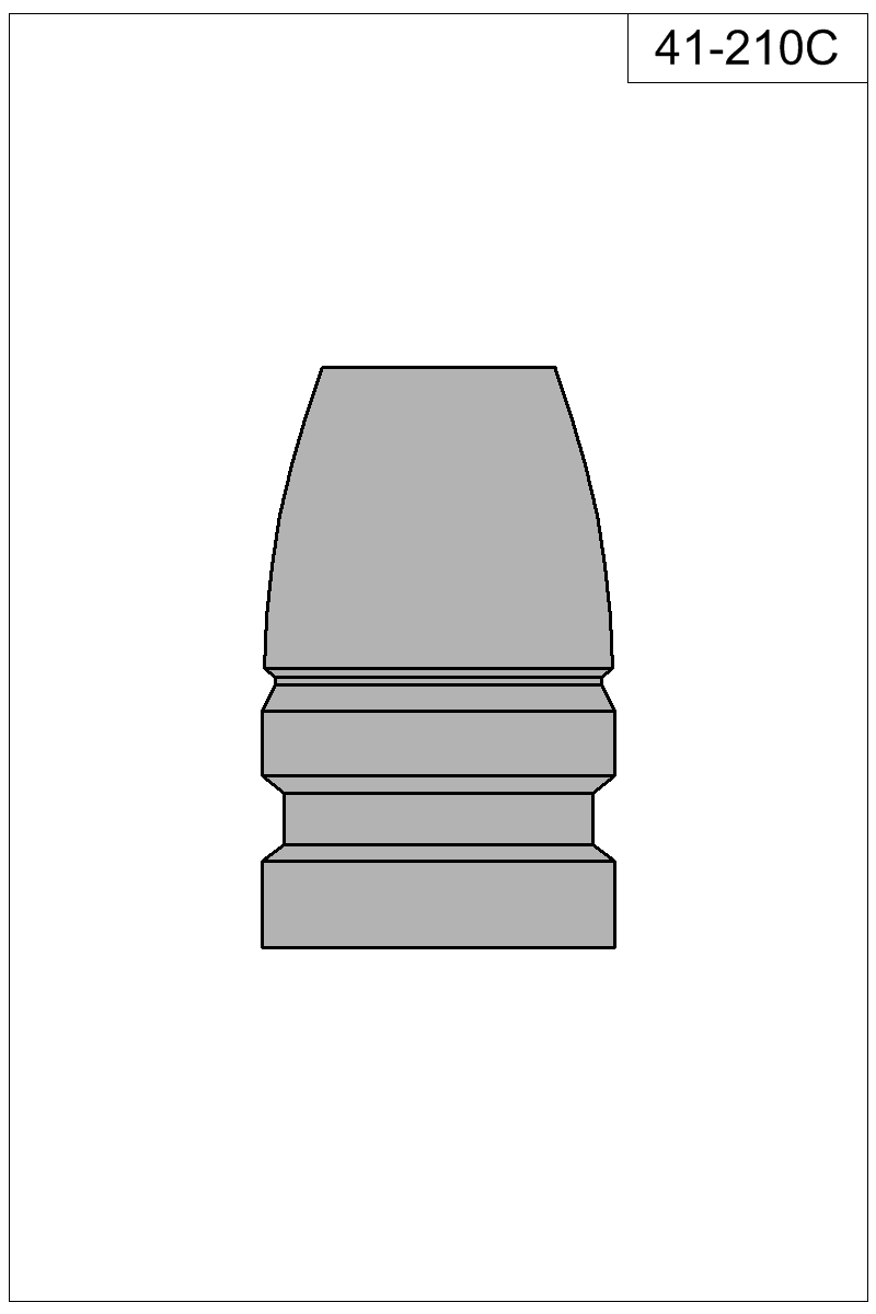 Filled view of bullet 41-210C.