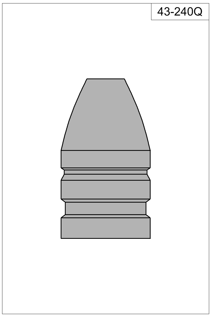 Filled view of bullet 43-240Q.