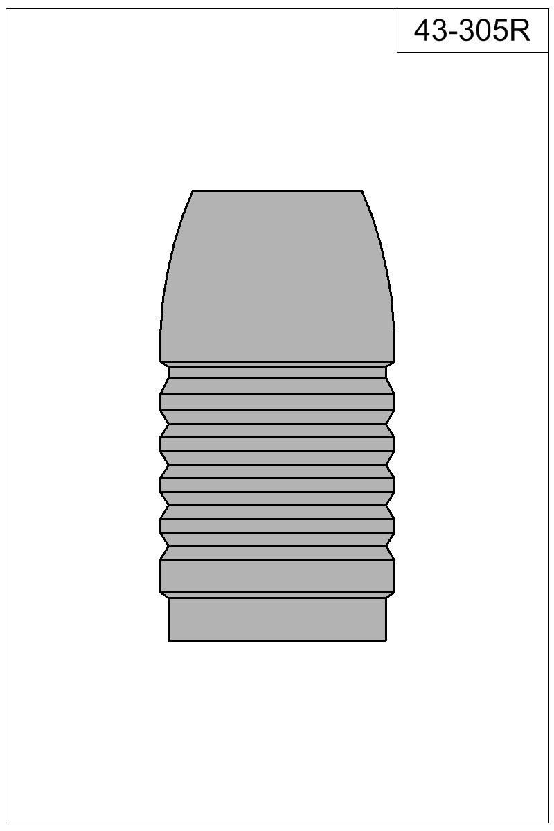 Filled view of bullet 43-305R.