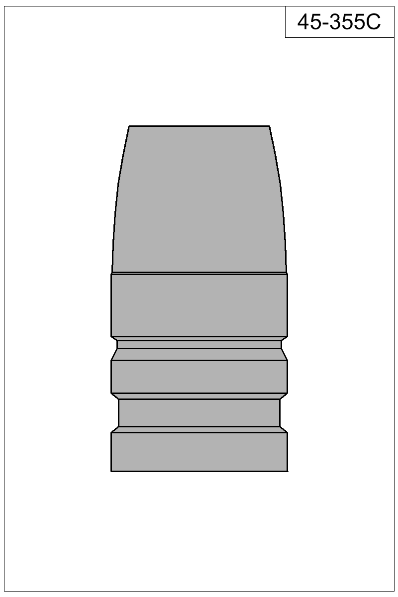 Filled view of bullet 45-355C.