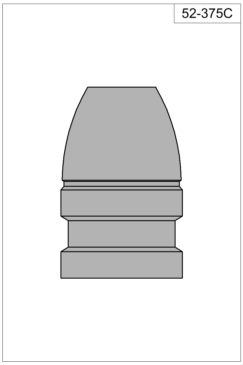 Filled view of bullet 52-375C.