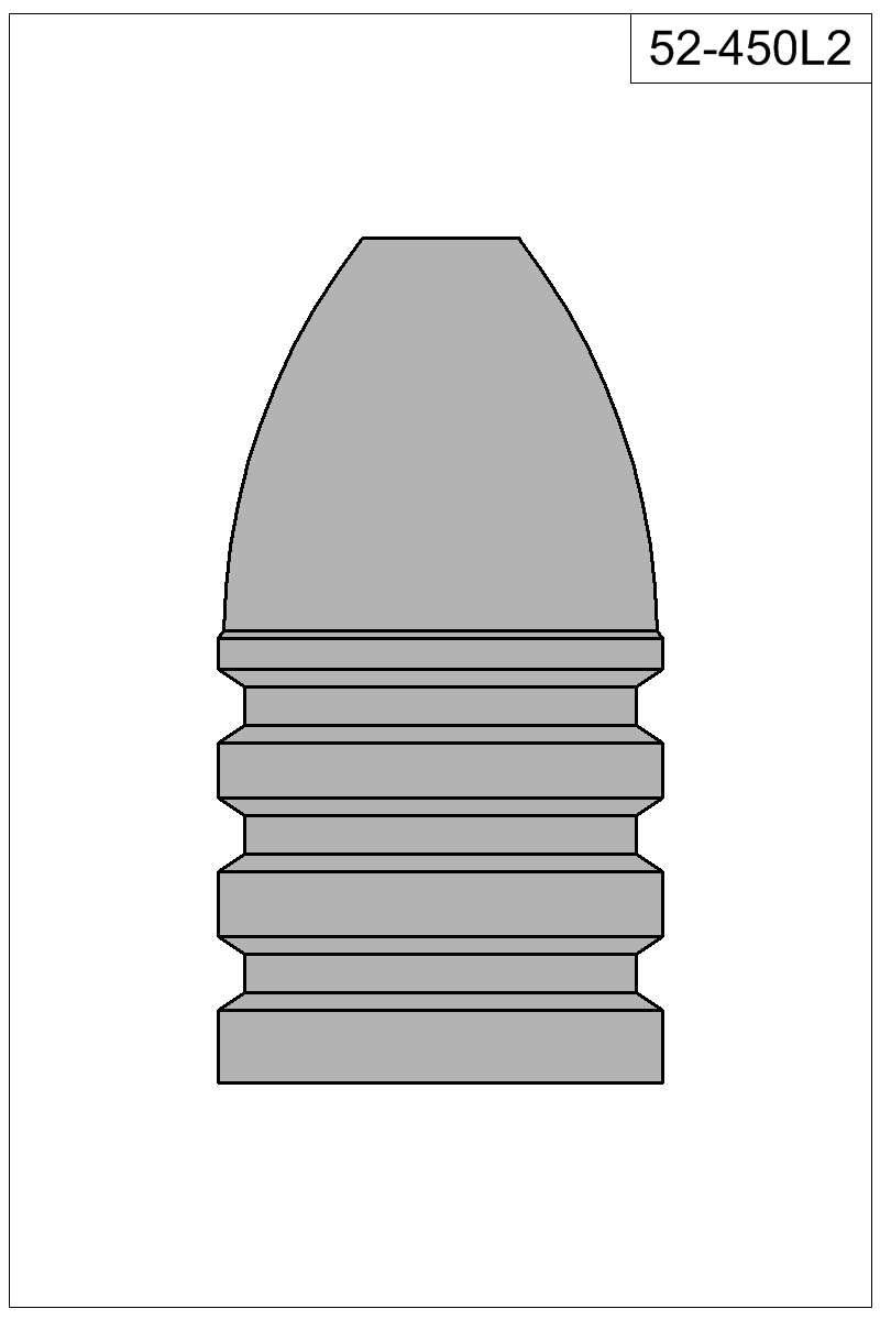 Filled view of bullet 52-450L2.