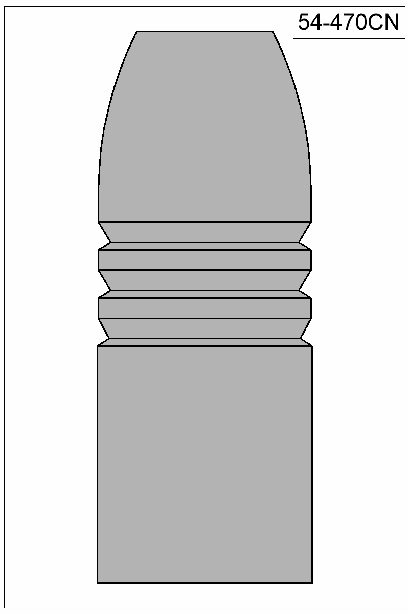 Filled view of bullet 54-470CN.