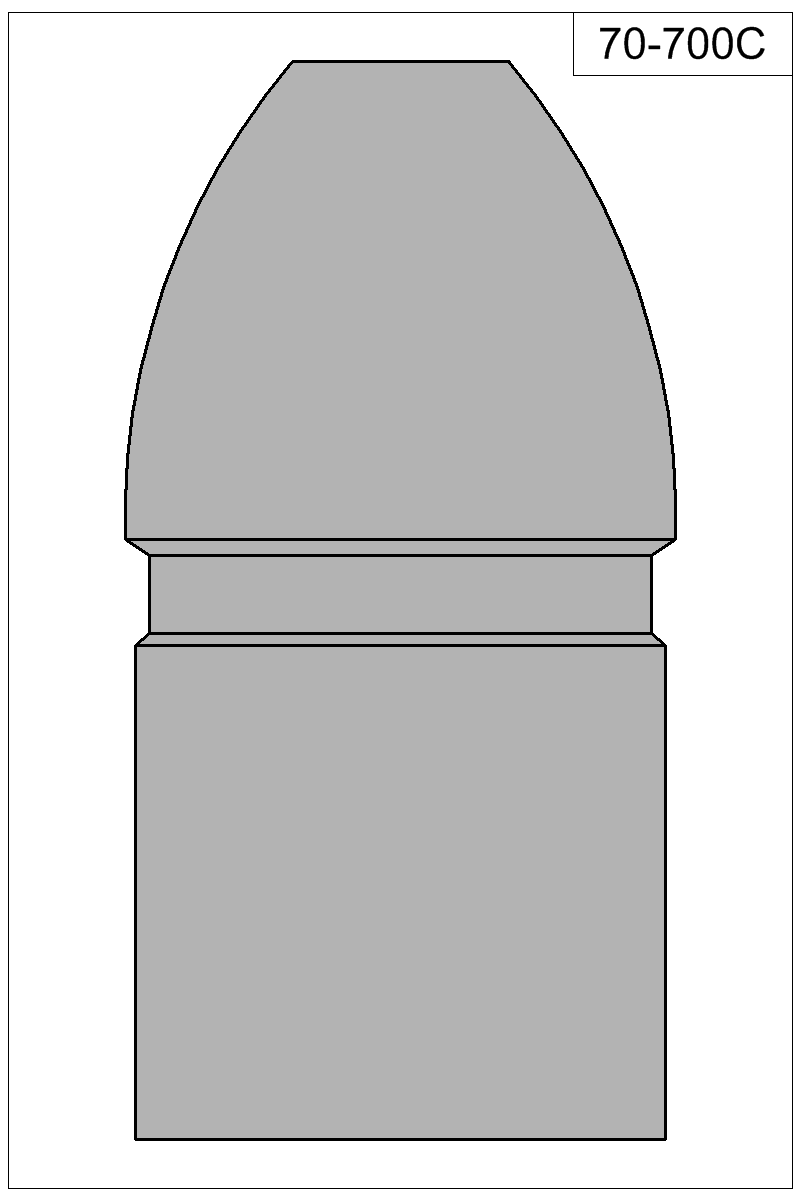 Filled view of bullet 70-700C.