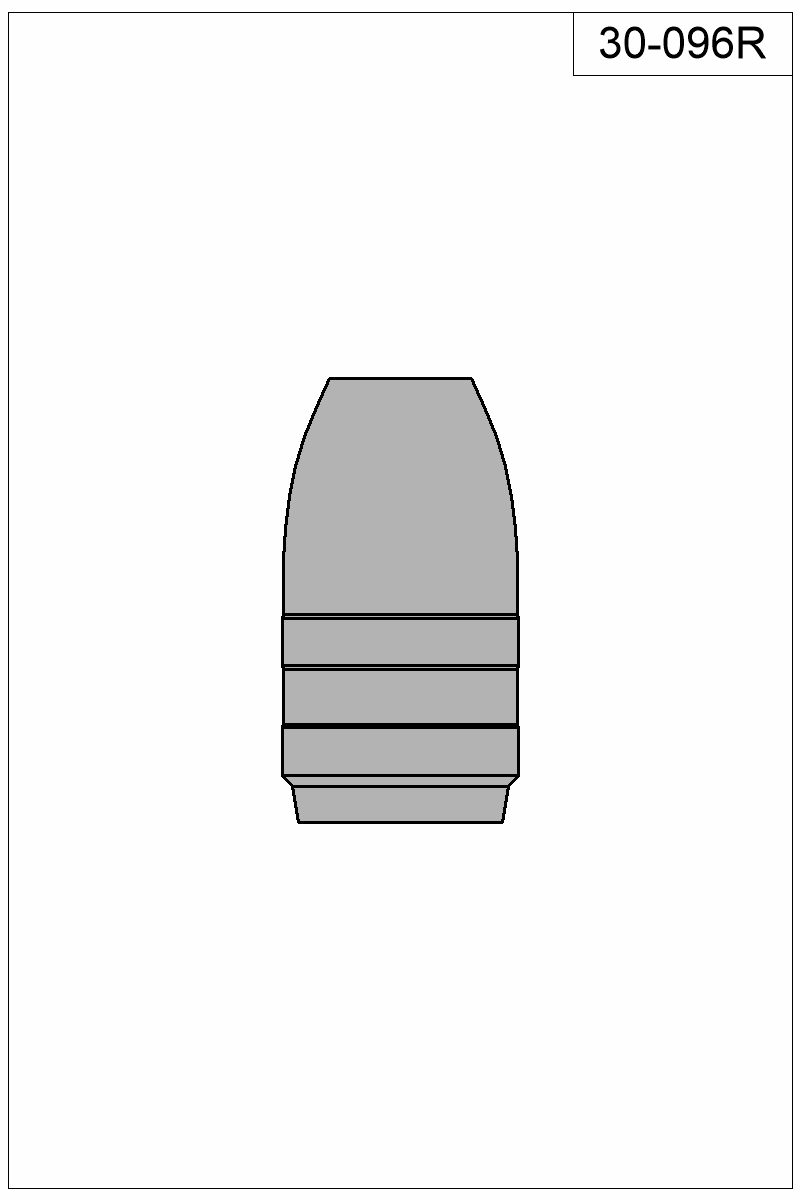 Filled view of bullet 30-096R.